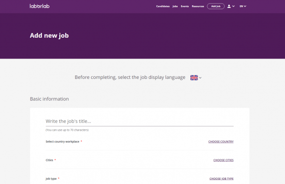 Add new job