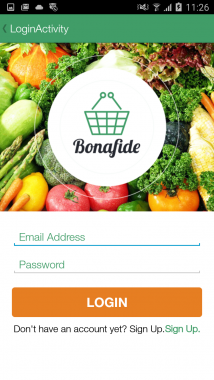 Bonafide - Login View