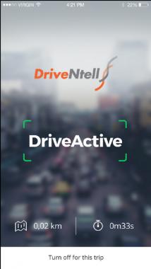 DriveNtell- informative screen