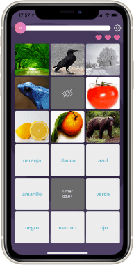 Memory game screenshot - Lingua Attack mobile app by ASSIST Software
