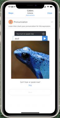 Photo Vocab Pronunciation screenshot - Lingua Attack mobile app by ASSIST Software