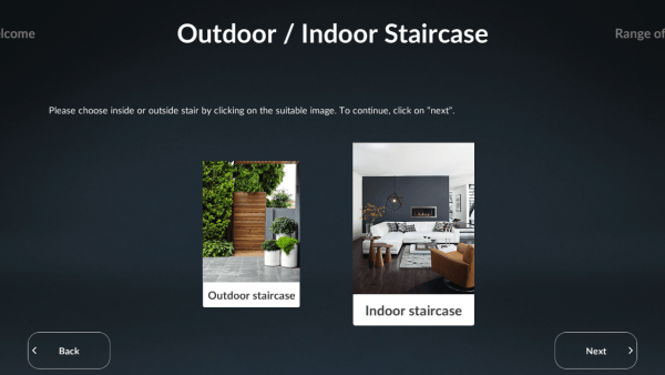 Sogem Stair Configurator outdoor / indoor staircase