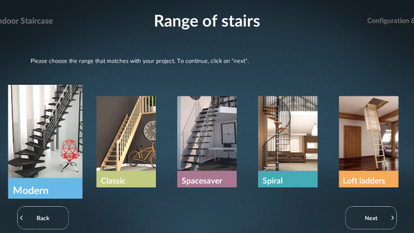 Sogem Stair Configurator range of stairs ASSIST-Software-Romania