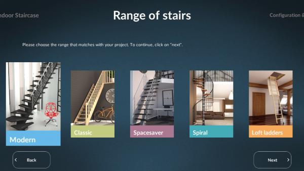 Sogem Stair Configurator range of stairs