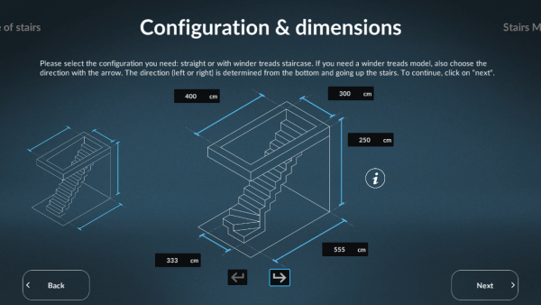 Sogem Stair Configuration & dimensions ASSIST-Software-Romania