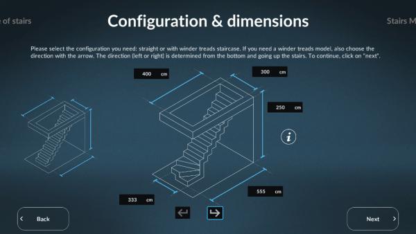 Sogem Stair Configuration & dimensions