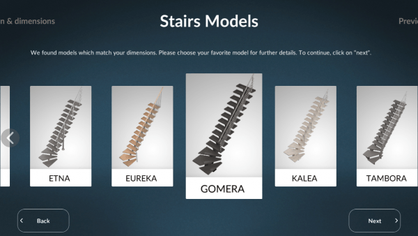 Sogem Stair Configuration Stairs Models ASSIST-Software-Romania