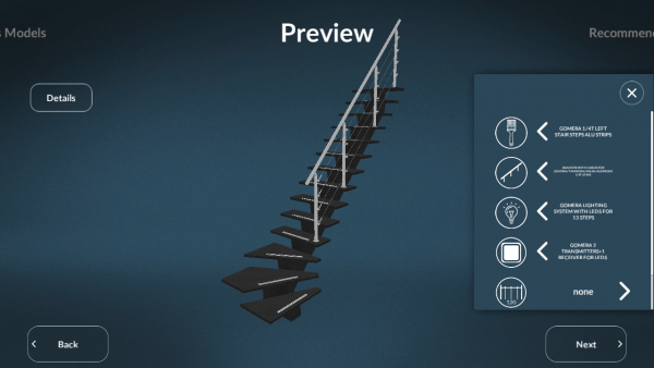 Sogem Stair Configuration Preview