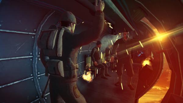 Paratrooper mini-game