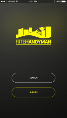 Rite App Screenshot first screen