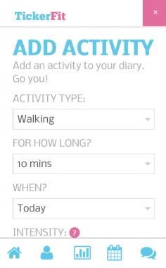 TickerFit Activity