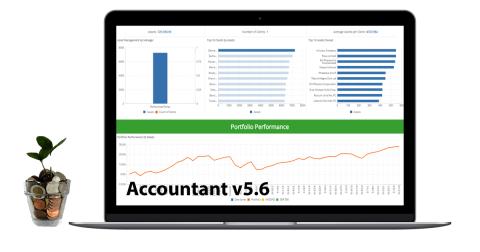 Accountant v5.6 financial data management application - promo image