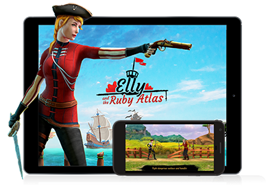 Elly and the Ruby Atlas - Romanian RPG mobile Game
