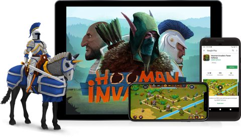 Hooman Invaders powered by ASSIST Software - 2D tower defense game