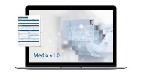 Medix v1.0 medical management application - promo image
