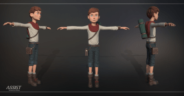 Texturing a CGI stylized character - promo image