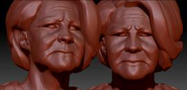 Old Female Civil Face Detail