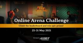 Online Arena Event Announcement, fire battle