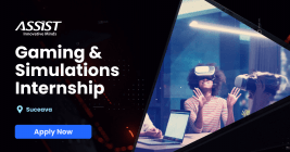 ASSIST Software Gaming and Simulations Internship Suceava APPLY Now